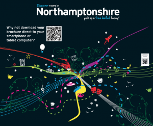 """QR Code """"Discover More In Northamptonshire"""""""