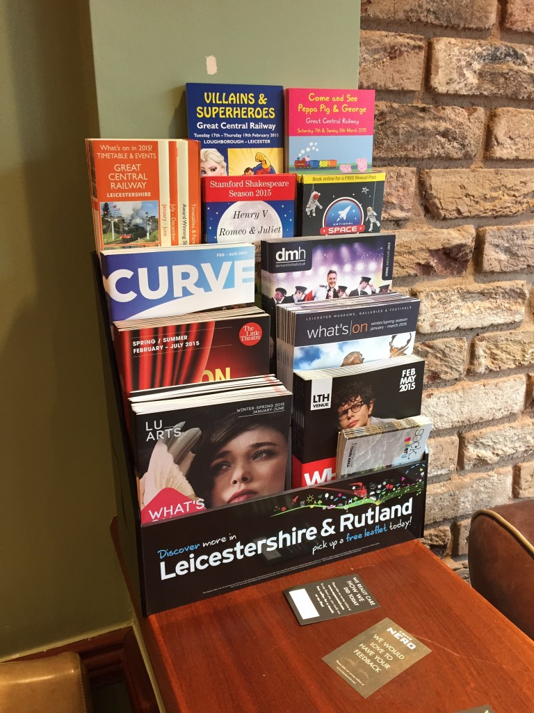 4 Row holder at Cafe Nero, Loughborough.